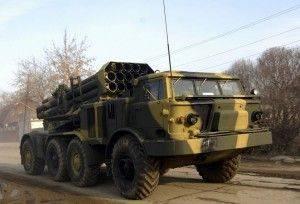 Хунта размещает РСЗО «Град» на горе Карачун