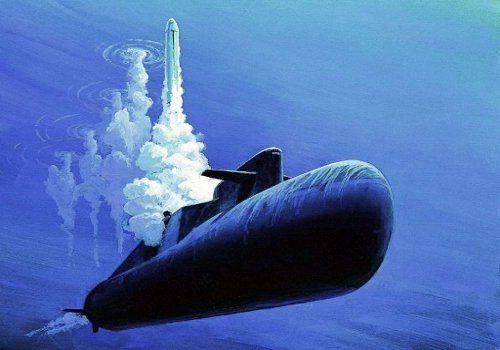 залповый пуск с подводной лодки 1991