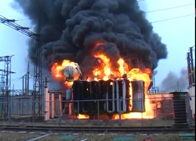 На Украине начали гореть трансформаторы