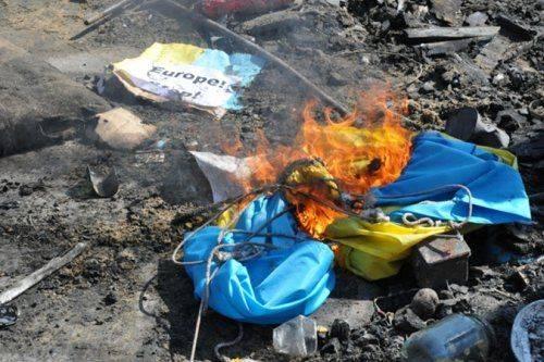 Житель Винницкой области топил печку флагом Украины