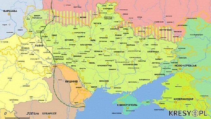 МИД Украины публикует карты с территориальными претензиями к Польше