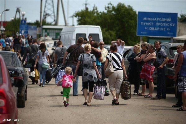 Беженцы с Украины «евроинтегрируются».