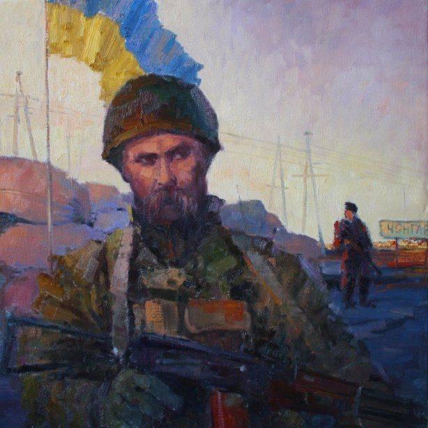 Украина борется с «террористами» под знаменем сепаратиста и террориста Бандеры