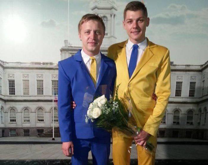 В Нью-Йорке поженились Тарас и Мыкола — гей-пара из Украины