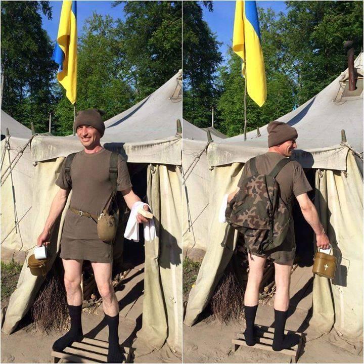 Армия Украины: без порток, но в шляпе