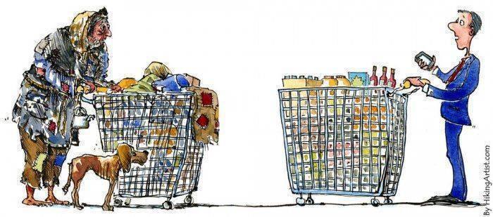Картинки по запросу бедность и богатство в россии картинки