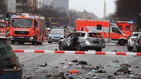 В Берлине взорвался начиненный взрывчаткой автомобиль