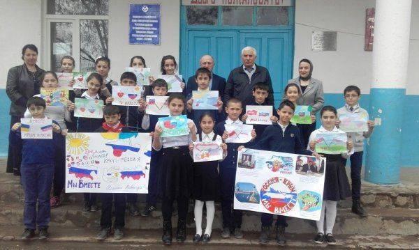 Дагестанские «фронтовики» провели открытые уроки на тему воссоединения Крыма и России в школах Магарамкентского района