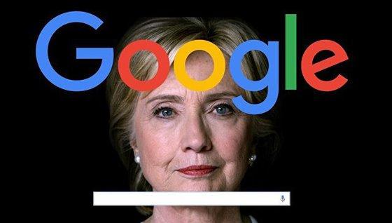 """Мировой скандал: Google попался на """"промывке мозгов"""" за Клинтон"""