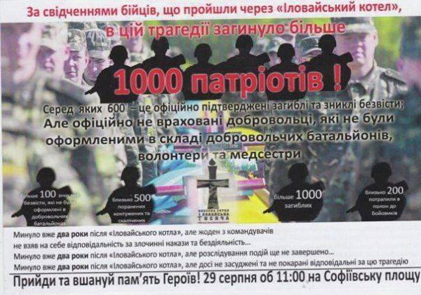 Потери в Иловайском котле: две цифры, две точки зрения