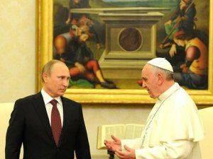 На этот раз намёк будет касательно ситуации в Сирии? Владимир Путин изъявил желание встретиться с папой Римским