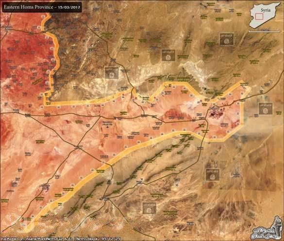 ИГИЛ отступает: Армия Сирии и ВКС РФ гонят боевиков в пустыню под Пальмирой