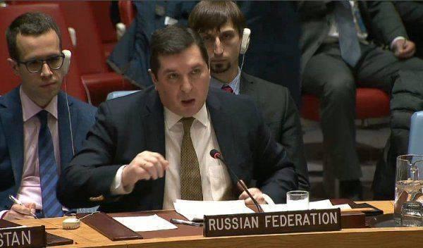 Британский представитель в ООН занервничал под критикой Сафронкова