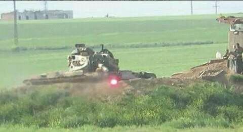 Появились кадры, как курды прямой наводкой из ПТРК подбили турецкий танк