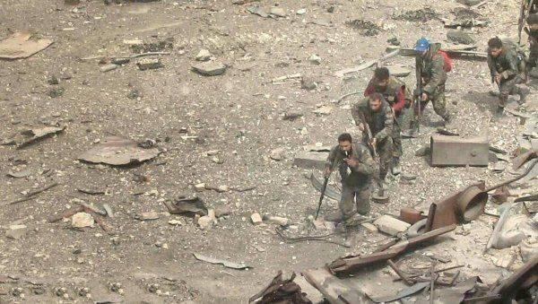 Жестокие городские бои под Дамаском: Армия Сирии освобождает г. Кабун