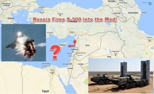 Россия выстрелила С-300 в сторону Средиземного Моря