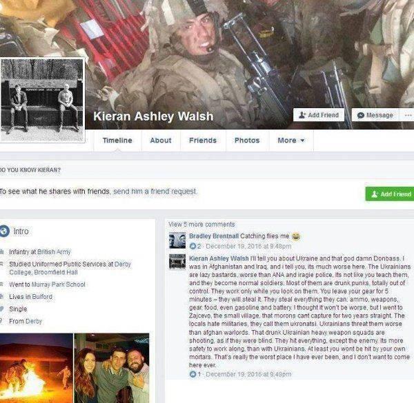 «Украинские солдаты – ленивые ублюдки», — британский наемник о командировке в АТО