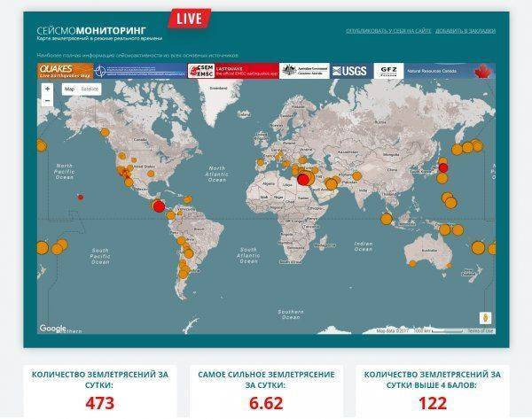 Стремительный рост сейсмической активности в мире
