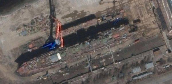 Уникальное фото тяжелого атомного ракетного крейсера «Адмирал Нахимов» появилось в сети