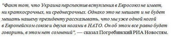 Погребинский: Украина не имеет перспектив вступления в Евросоюз
