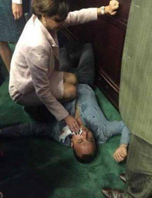 Депутат от Блока Порошенко во время драки отправил в нокаут коллегу от «Батькивщины»