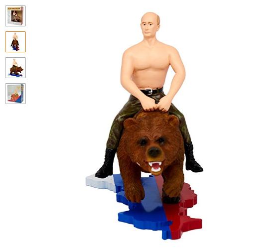 Эта игрушка вызвала фурор: Американцы об игрушечном Путине на медведе