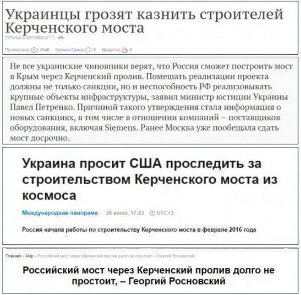Мост в Крым всё