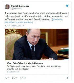 «Когда Путин говорит, стоит слушать». Итоги года в России глазами американца