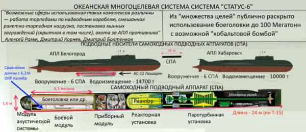 """Пентагон признал существование российского оружия """"Статус-6"""""""