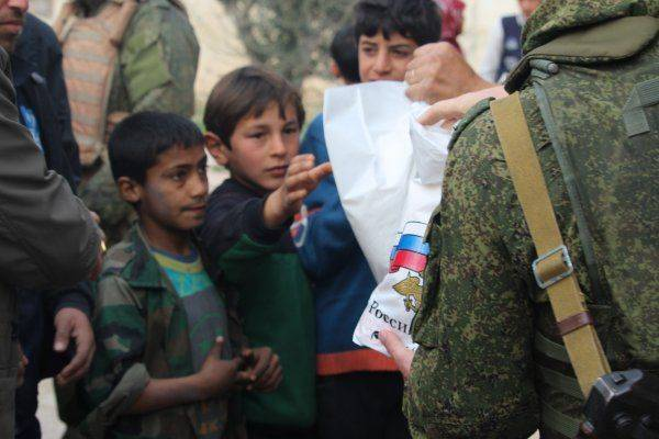 Российским Центром по примирению враждующих сторон проведена гуманитарная акция в городе Мардес провинции Хама