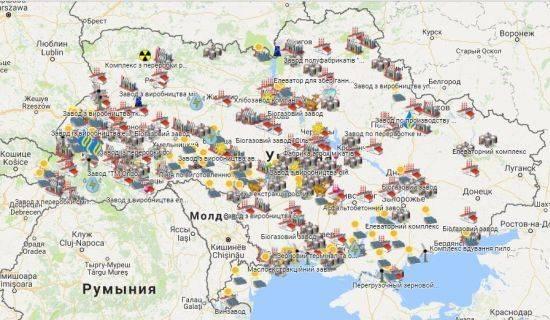 Промышленной раскол Украины по Днепру