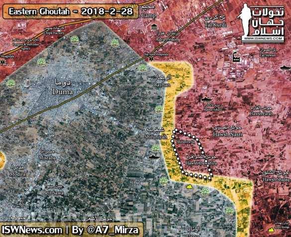 Штурм пригорода Дамаска: «Тигры» выбивают боевиков из Восточной гуты