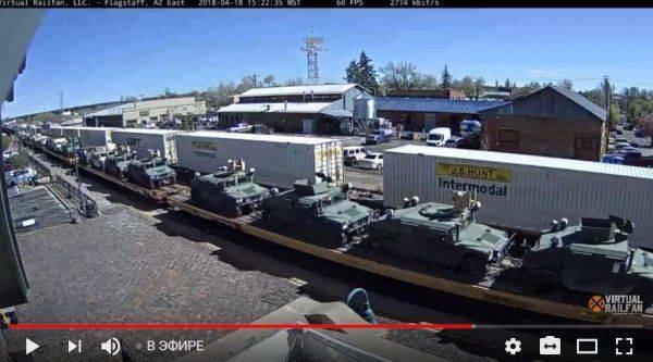 Железные дороги в США забиты поездами с военной техникой. Это подготовка к фальшфлагу или к войне?