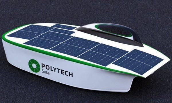 Polytech Solar: в Петербурге прошел испытания первый в России солнцемобиль
