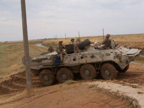 Украинские подразделения отрабатывают зачистку на границе с Крымом