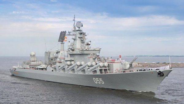 """Корабли Севфлота с крейсером """"Маршал Устинов"""" прибудут в Финский залив"""