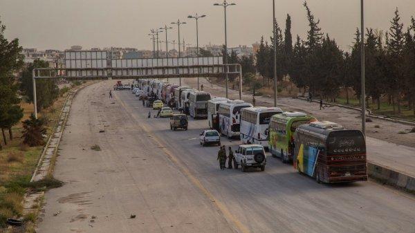 Обмен боевиков на беженцев в Идлибе завершен