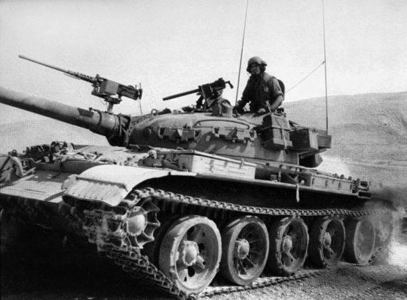 Советские танки Т-55 в армии Израиля