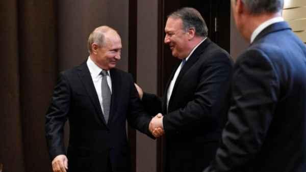 Путин и Помпео поговорили об американских санкциях