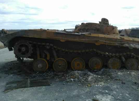 Попадание ракеты «третьей силы» ликвидировало украинскую бронемашину