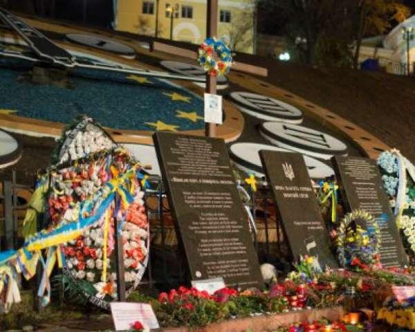 В центре Киева мужчина помочился на памятник «Героям Небесной сотни»